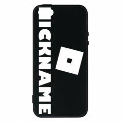 Чехол для iPhone5/5S/SE Roblox Your Nickaneme