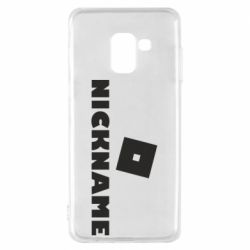 Чехол для Samsung A8 2018 Roblox Your Nickaneme