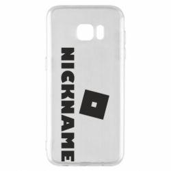 Чехол для Samsung S7 EDGE Roblox Your Nickaneme