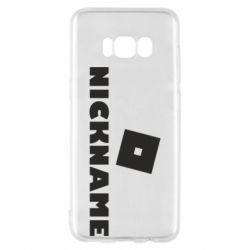 Чехол для Samsung S8 Roblox Your Nickaneme