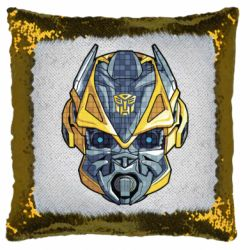Подушка-хамелеон Робот bumblebee