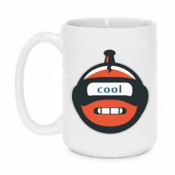 Кружка 420ml Robot with the word cool