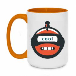 Кружка двоколірна 420ml Robot with the word cool