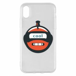 Чохол для iPhone X/Xs Robot with the word cool