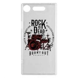 Чехол для Sony Xperia XZ1 Rock Is Dead fire - FatLine