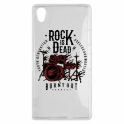 Чехол для Sony Xperia Z1 Rock Is Dead fire - FatLine