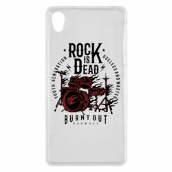 Чехол для Sony Xperia Z2 Rock Is Dead fire - FatLine