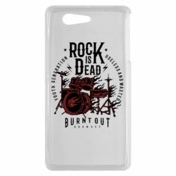 Чехол для Sony Xperia Z3 mini Rock Is Dead fire - FatLine