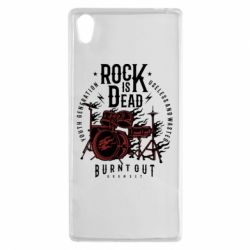 Чехол для Sony Xperia Z5 Rock Is Dead fire - FatLine