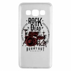 Чехол для Samsung A3 2015 Rock Is Dead fire - FatLine