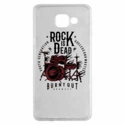 Чехол для Samsung A5 2016 Rock Is Dead fire - FatLine