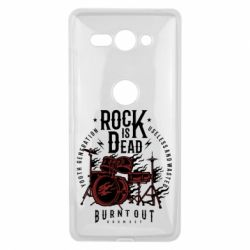 Чехол для Sony Xperia XZ2 Compact Rock Is Dead fire - FatLine