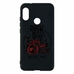 Чехол для Mi A2 Lite Rock Is Dead fire - FatLine