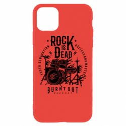 Чехол для iPhone 11 Rock Is Dead fire - FatLine