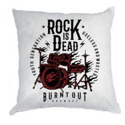 Подушка Rock Is Dead fire - FatLine