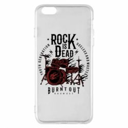 Чехол для iPhone 6 Plus/6S Plus Rock Is Dead fire - FatLine