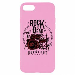 Чехол для iPhone 7 Rock Is Dead fire - FatLine