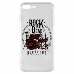 Чехол для iPhone 7 Plus Rock Is Dead fire - FatLine