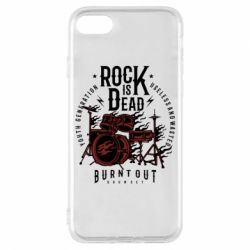 Чехол для iPhone 8 Rock Is Dead fire - FatLine