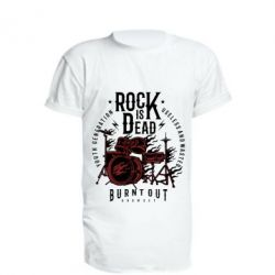 Удлиненная футболка Rock Is Dead fire - FatLine