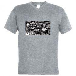 Чоловіча футболка з V-подібним вирізом Роck logo