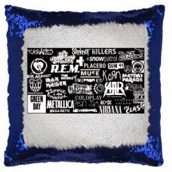 Подушка-хамелеон Роck logo