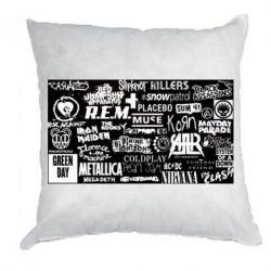 Подушка Роck logo
