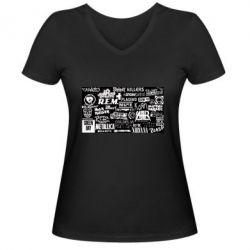 Жіноча футболка з V-подібним вирізом Роck logo