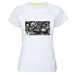 Жіноча спортивна футболка Роck logo