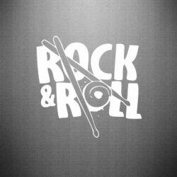 Наклейка Rock&Roll - FatLine