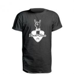 Подовжена футболка Rock star gesture