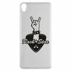 Чехол для Sony Xperia XA Rock star gesture - FatLine