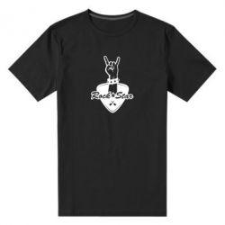Чоловіча стрейчева футболка Rock star gesture