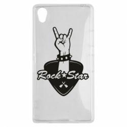 Чехол для Sony Xperia Z1 Rock star gesture - FatLine