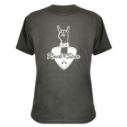 Камуфляжна футболка Rock star gesture