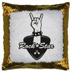 Подушка-хамелеон Rock star gesture