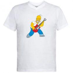 Мужская футболка  с V-образным вырезом Rock this party! - FatLine