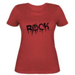 Женская футболка Rock