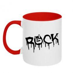 Кружка двухцветная Rock