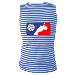 Майка-тільняшка Rocket League blue and red