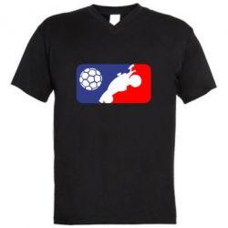 Чоловіча футболка з V-подібним вирізом Rocket League blue and red