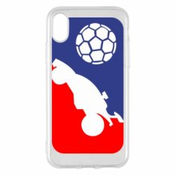 Чохол для iPhone X/Xs Rocket League blue and red