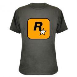 Камуфляжна футболка Rockstar Games logo