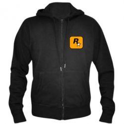 Чоловіча толстовка на блискавці Rockstar Games logo