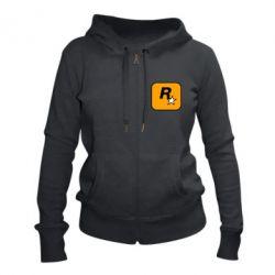 Жіноча толстовка на блискавці Rockstar Games logo