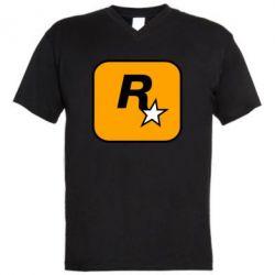 Чоловіча футболка з V-подібним вирізом Rockstar Games logo