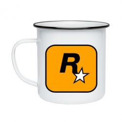 Кружка емальована Rockstar Games logo