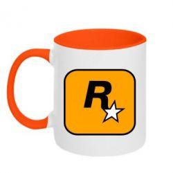 Кружка двоколірна 320ml Rockstar Games logo