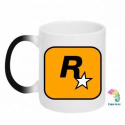 Кружка-хамелеон Rockstar Games logo