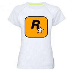 Жіноча спортивна футболка Rockstar Games logo